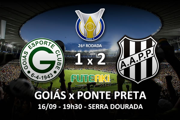 Veja o resumo da partida com os gols e os melhores momentos de Goiás 1x2 Ponte Preta pela 26ª rodada do Brasileirão 2015.
