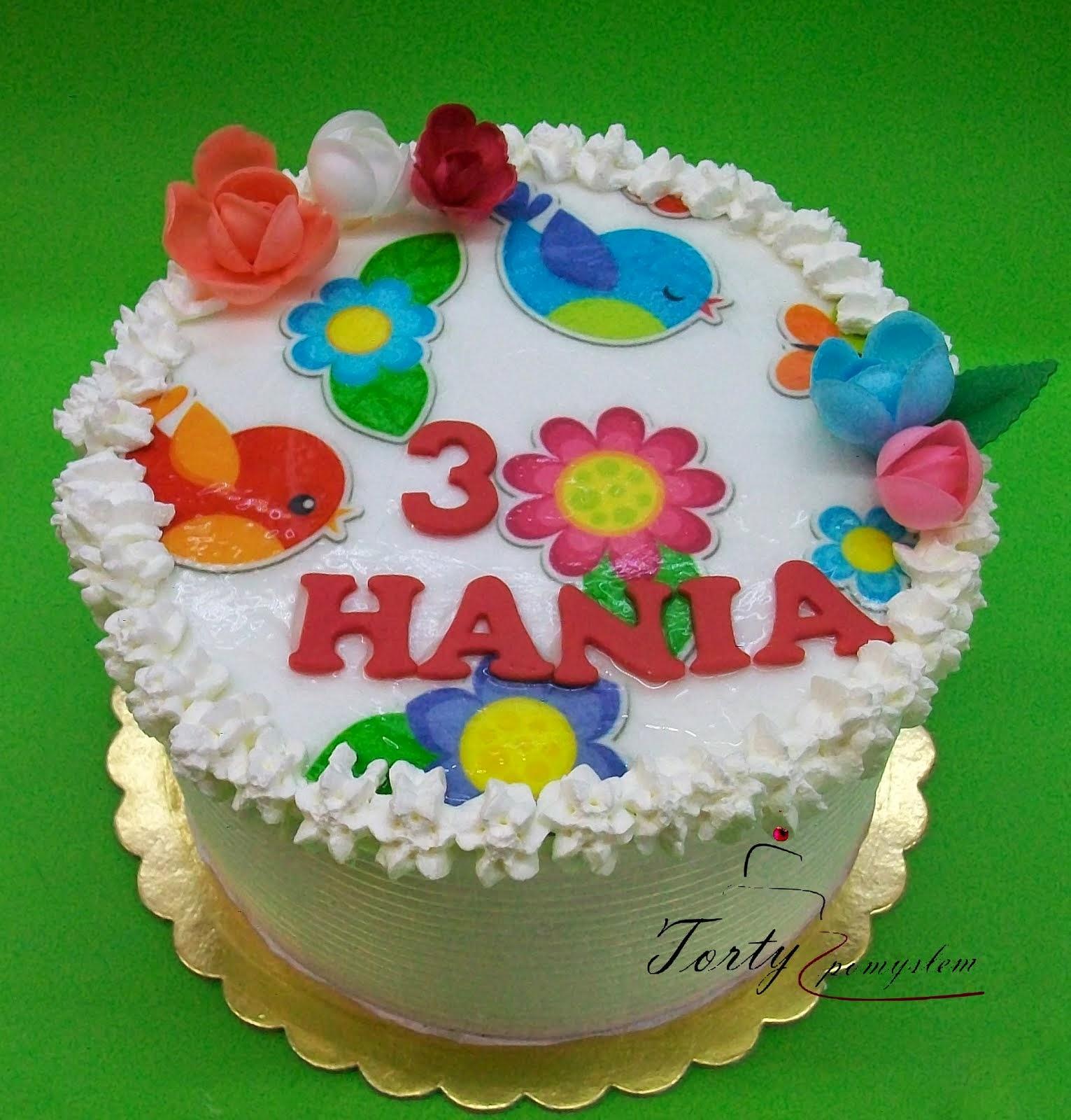 tort bez masy cukrowej z wydrukiem na opłatku