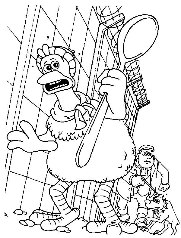LAMINAS PARA COLOREAR - COLORING PAGES: Pollitos en Fuga-Chickenrun ...