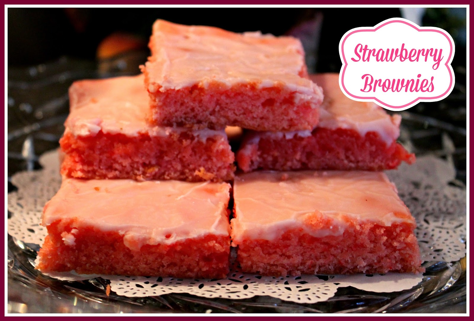 Strawberry Gooey Butter Cake - This cake is so soft and delicious. It's made withs trawberry cake mix and is perfect for summer time!