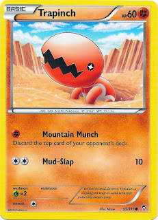 Trapinch Furious Fists Pokemon Card