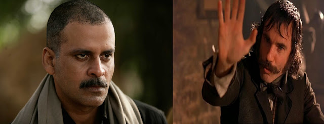 "manoj bajpai as sardar khan in gangs of wasseypur, daniel da-lewis as bill ""the butcher"" cutting in gangs of wasseypur"
