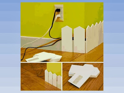 Idea para pasar los cables por la pared