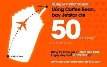 Uống Coffee Bean bay Jet Star chỉ 50.000 đồng, khuyến mãi, khuyen mai café. Ca phe khuyen mai, tin khuyen mai, khuyen mai an uong, diem an uong ngon