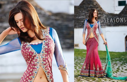 Open-Shirt-and-Fish-Tail-Lehenga
