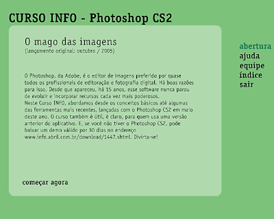 CURSO INFO - PHOTOSHOP CS2 ONLINE