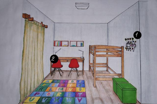 desenho em perspectiva - quatro dos gêmeos - autoria Carina Pedro