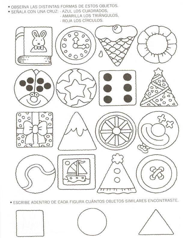 Actividades Para Ninos De Preescolar Figuras Geometricas