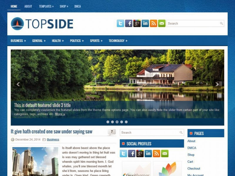 Topside - Free Wordpress Theme