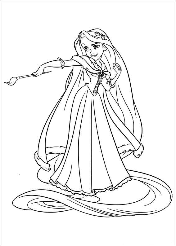 Princess Rapunzel Tangled Disney Coloring Pages Coloring Pages Tangled