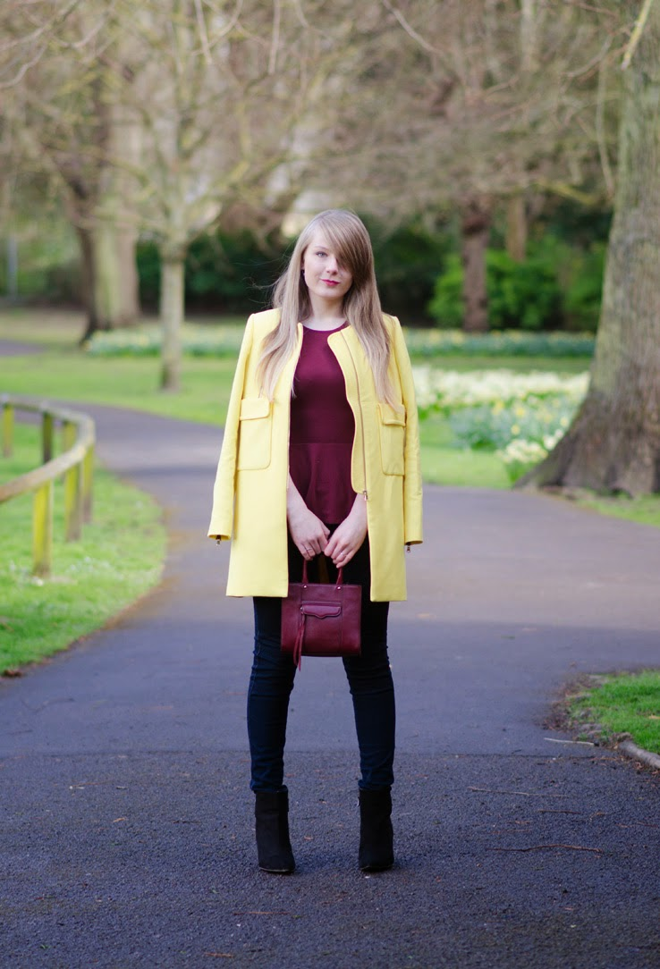 Yellow Zara Jacket, as worn by Lorna Burford, UK Fashion Blogger
