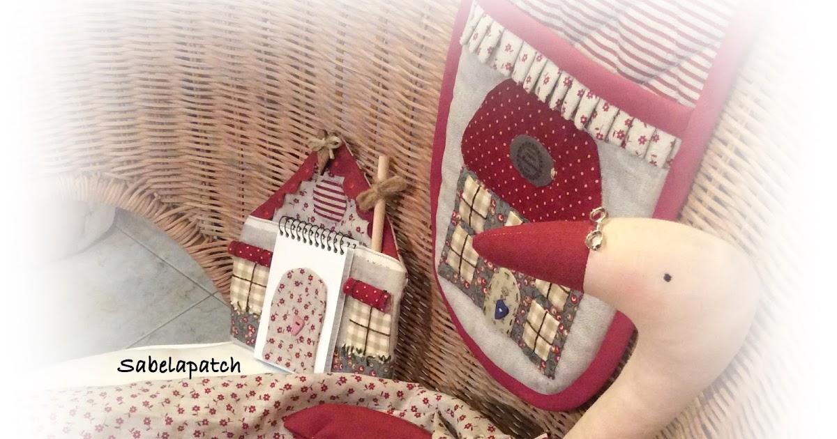 Sabela patchwork oca guarda bolsas y casita porta notas - La casita del patchwork ...