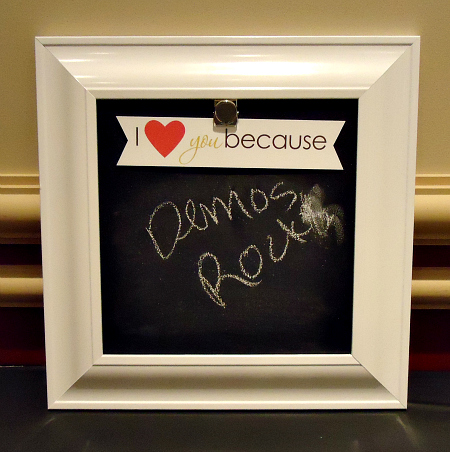 Framed Chalkboard Wall Art