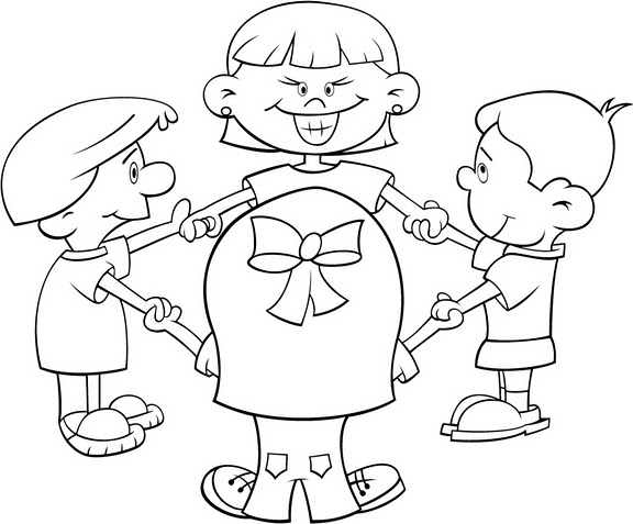 DIBUJOS PARA COLOREAR DE NIÑOS JUGANDO en la escuela - Imagui