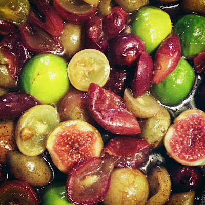 Roasted Figs and Grapes