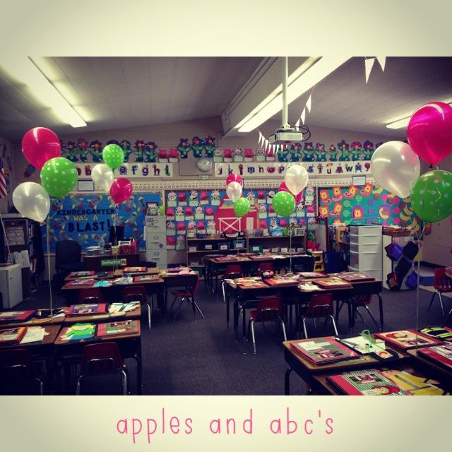 Open House in Kindergarten - Apples and ABC's