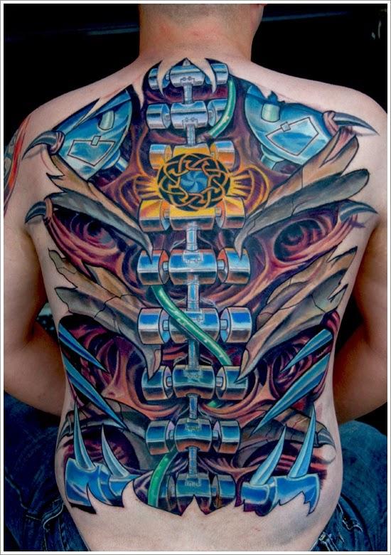 7 latest biomechanical tattoo design