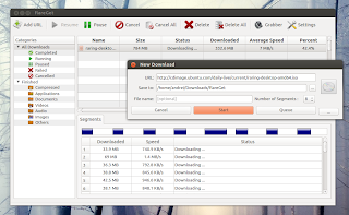 flareGet Linux download manager screenshot