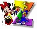 Alfabeto de Minnie Mouse pintando Z.
