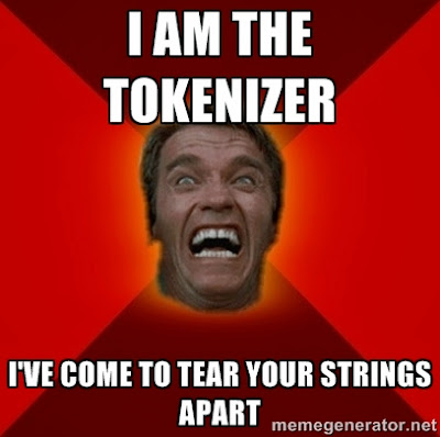 "The Tokenizer AKA Scanner's job is breaking down string expressions into manageable parts or ""Tokens""."