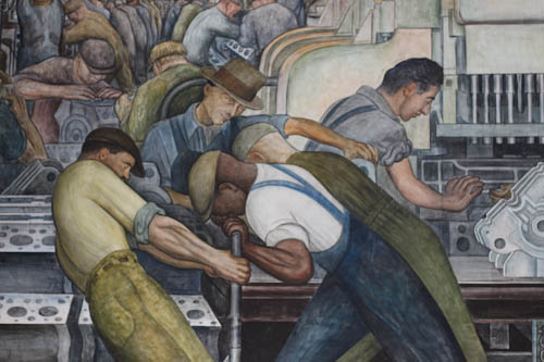 Understanding society how to think about work for Diego rivera dia mural