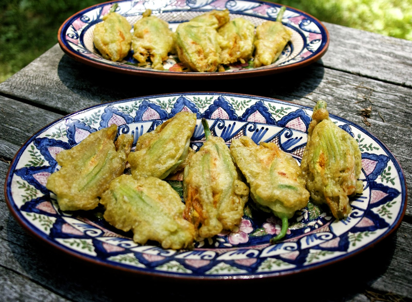 Shrimp Filled Zucchini Blossoms- simplelivingeating.com