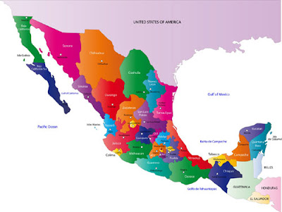 Map of Mexico Political Geography