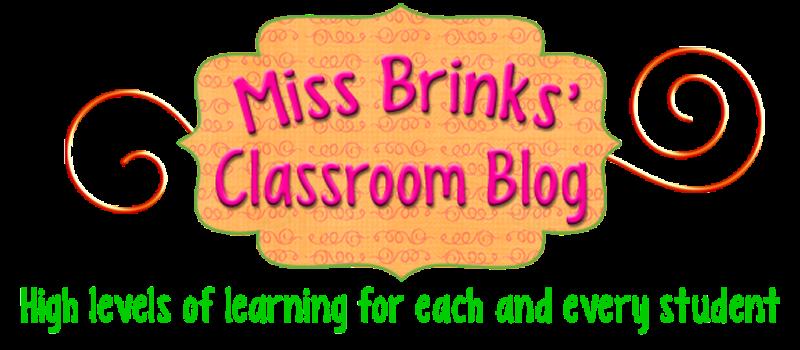 Miss Brinks' Classroom Blog
