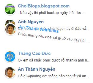 [Tips] - Recent Comments / Bình luận mới nhất cho Blogger Blogspot V1