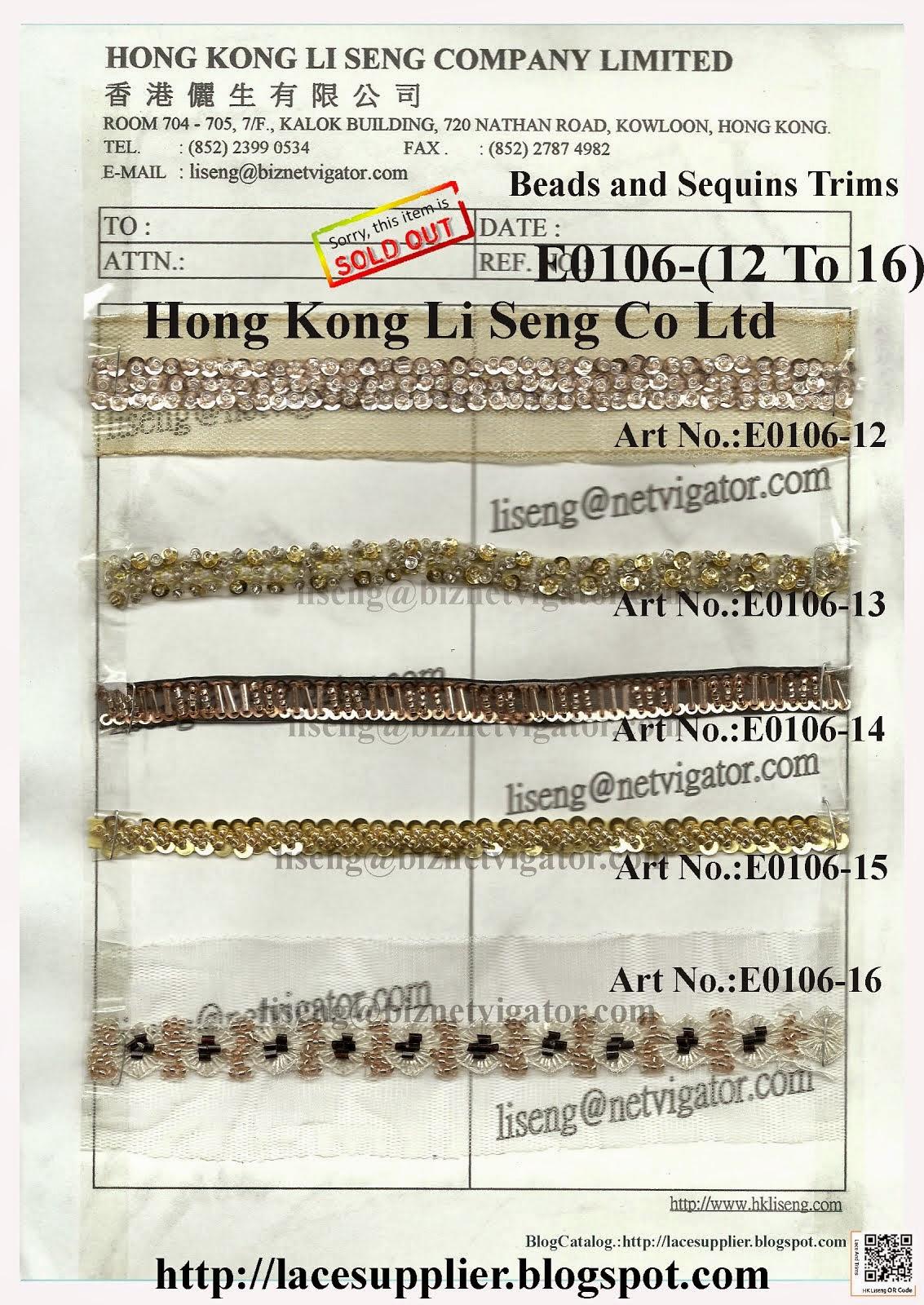 Beads and Sequins Trims Manufacturer - Hong Kong Li Seng Co Ltd