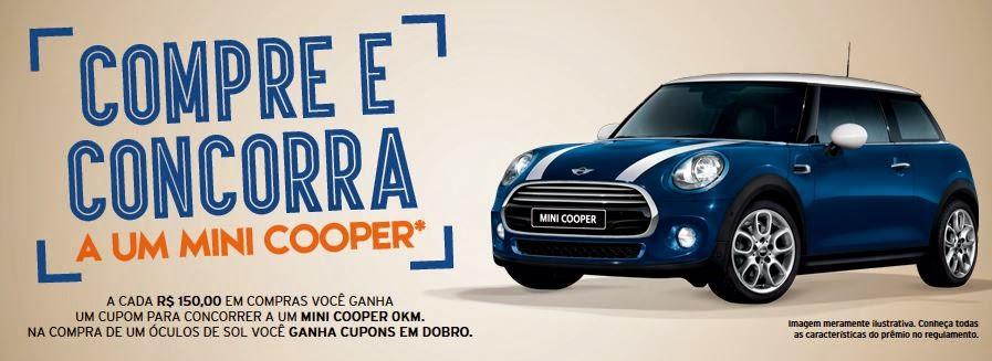 Óticas Carol, compre e concorra a um Mini Cooper