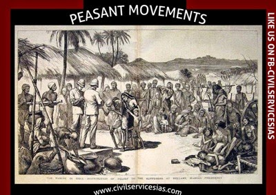 peasants movements in india