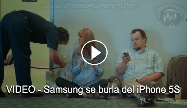 VIDEO La Compañia Samsung se burla del iPhone 5S en un comercial