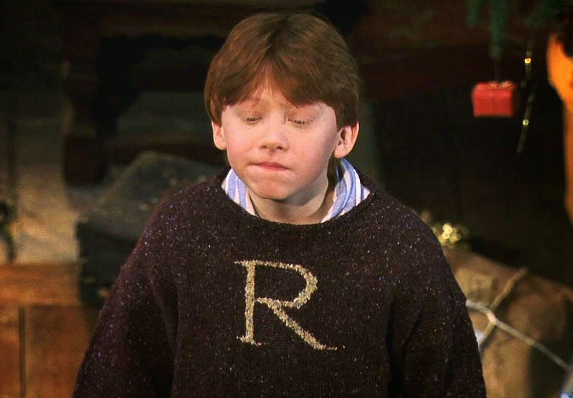 Harry Potter Knits: Ron Weasley Christmas Sweater, Sorcerer\'s Stone