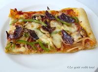 Pizza au magret de canard