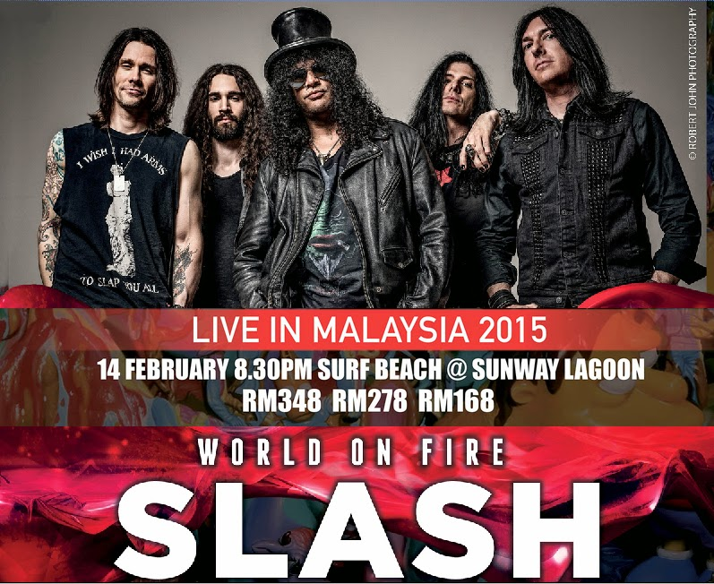 Slash Live Concert in Malaysia 2015