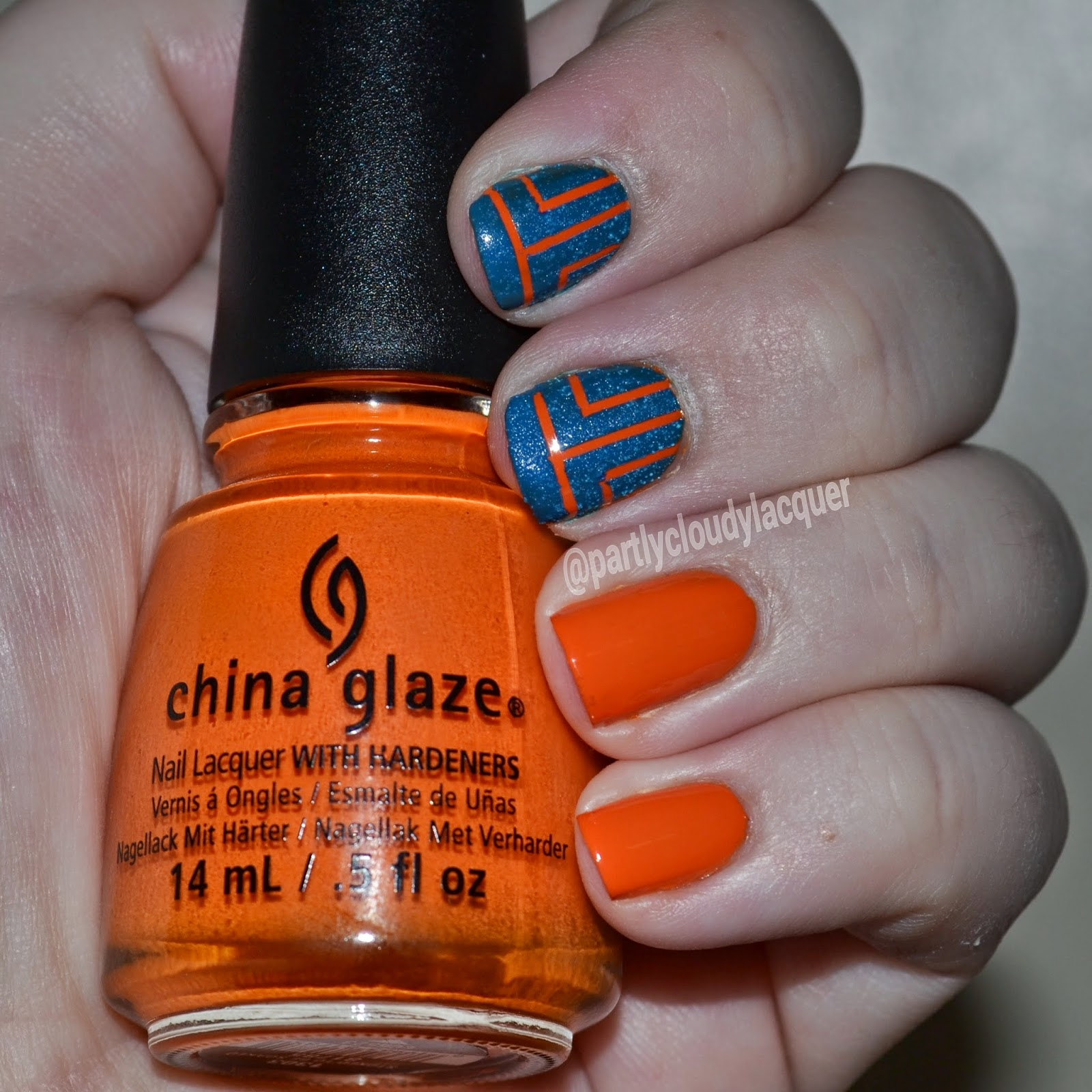 Florida Gators Nails 2014 | Partly Cloudy With a Chance of Lacquer