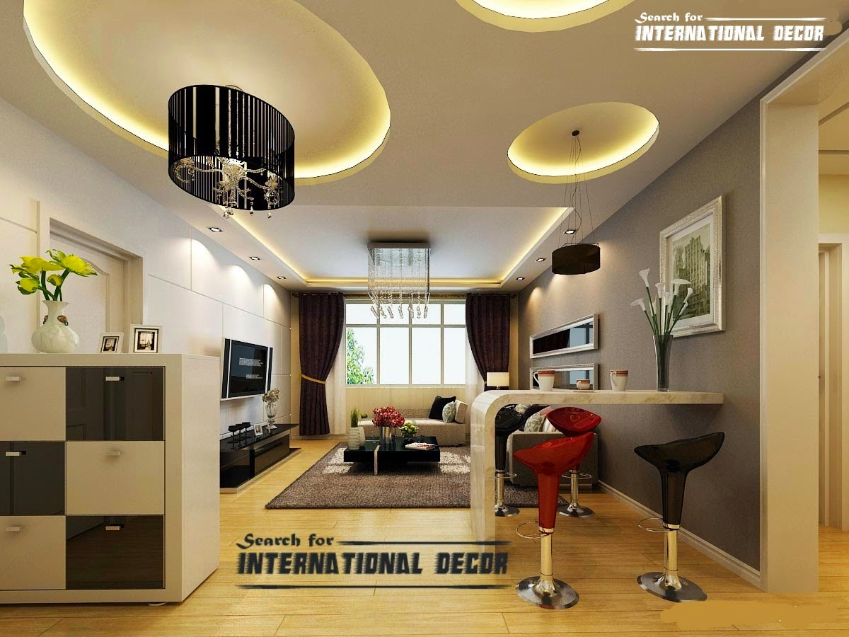 Modern false ceiling designs for living room interior - Modern interior design for living room ...