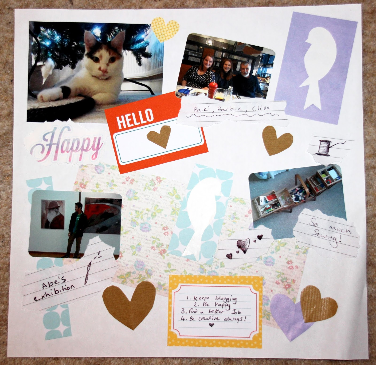 January scrapbook lifestyle friends blogger cat
