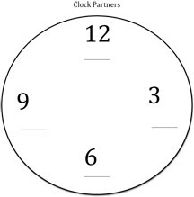 Free Things For Teachers: Clock Partners