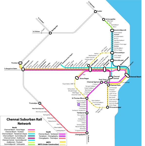 India Railway Trains information: Chennai Metro train Map