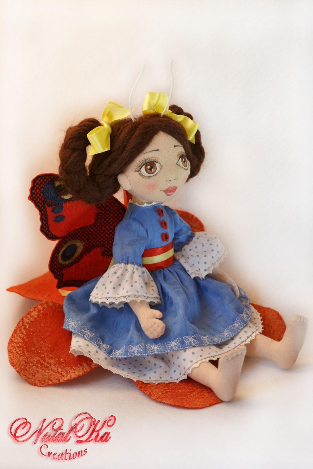 Cloth art doll Katrin. Текстильная кукла Катрин
