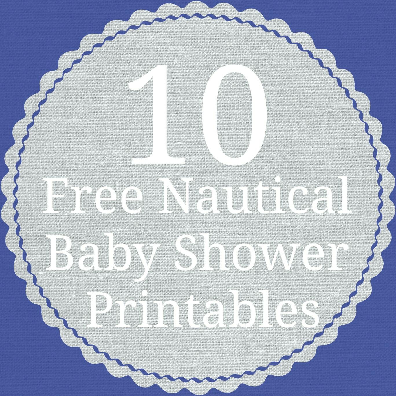 Nautical Baby Shower Printable Roundup