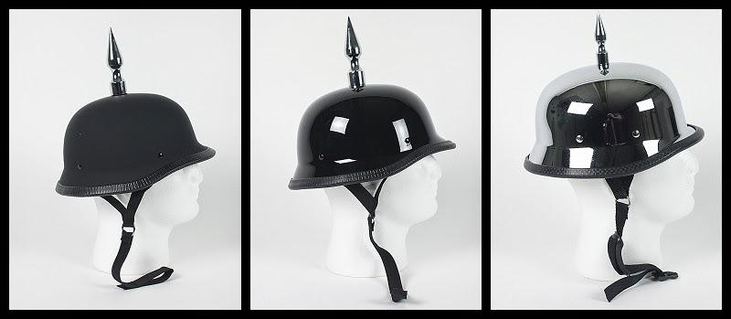 Spiked German Motorcycle Helmets