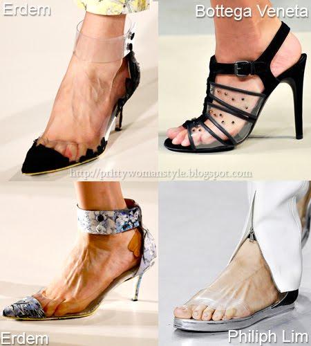 Прозрачни обувки Пролет/Лято 2012