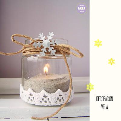 vela decoracion navidad DIY