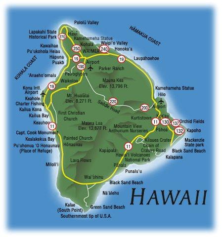 Hawaii Map Area Tourism Wailuku Map