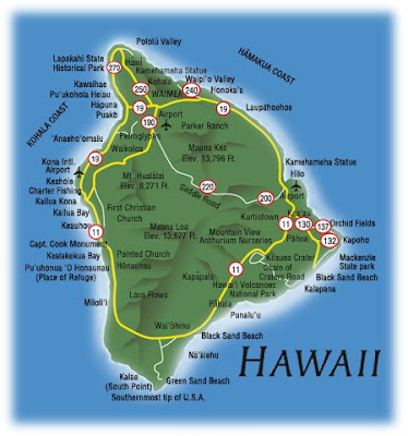 Hawaii Map Area Tourism