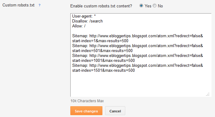 how to add sitemap to blogger eblogger tips