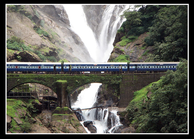 Dudhsagar Waterfall with Train